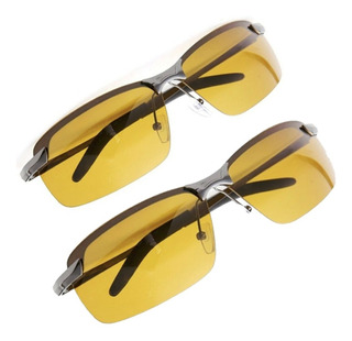Kit 2 Óculos Polarizado Lente Amarela Direção Noturna Noite