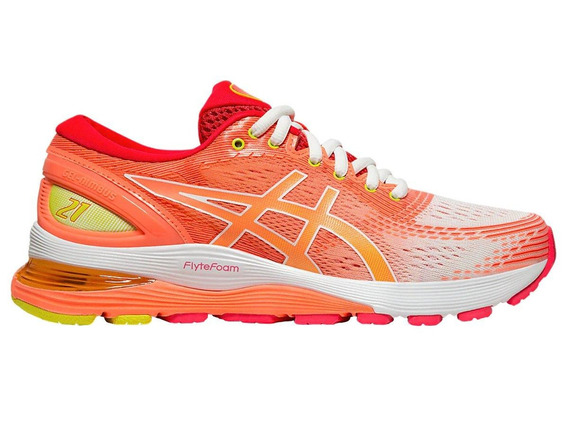 Asics Gel Nimbus 21 Shine Running Sun Coral Dama - Run24