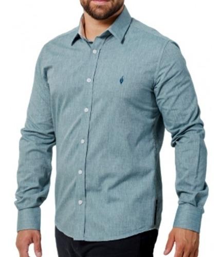 Camisa Exclusiva Social Lisa Algodão: Linho Verde - Lino Ve
