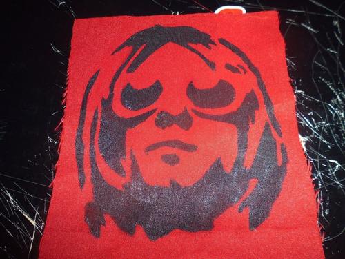 Imagen 1 de 2 de Parche Artesanal  Kurt Cobain
