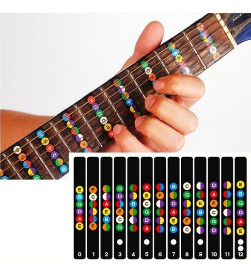Adesivo Para Escala Marcador De Notas De Violão Ou Guitarra
