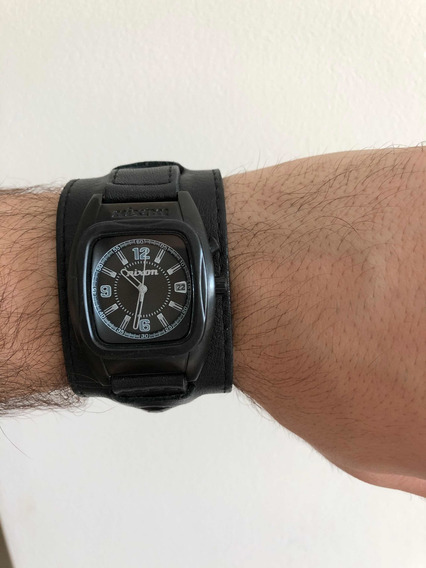 Relógio Nixon Rocker 51-30 Couro Cerâmica Oakley Roqueiro
