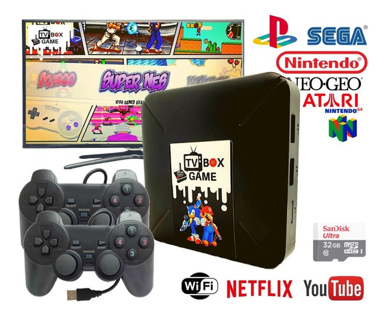 Video Game Portatil 12000 Jogos Antigos C/ 2 Controles Play2