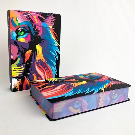 Bíblia Nvt Leão Lion Color Letra Grande / Capa Dura