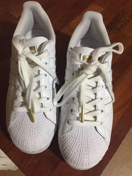 Zapatillas adidas Superstar Uk 4 / Us 5 1/2 ¡sólo Un Uso!