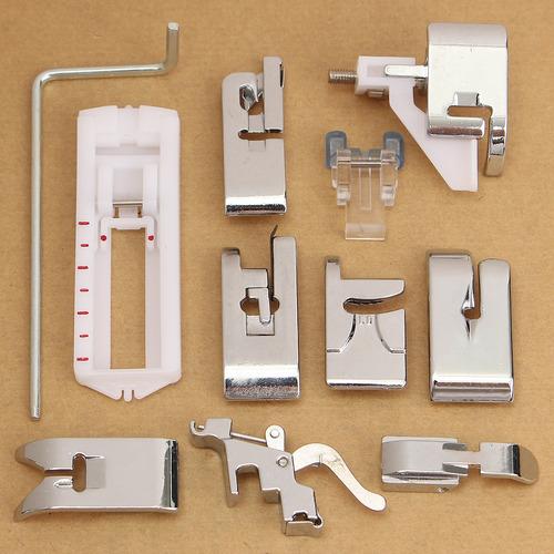 Botón Agujero Pie deslizante para máquinas de coser doméstica Snap en pie prensatelas