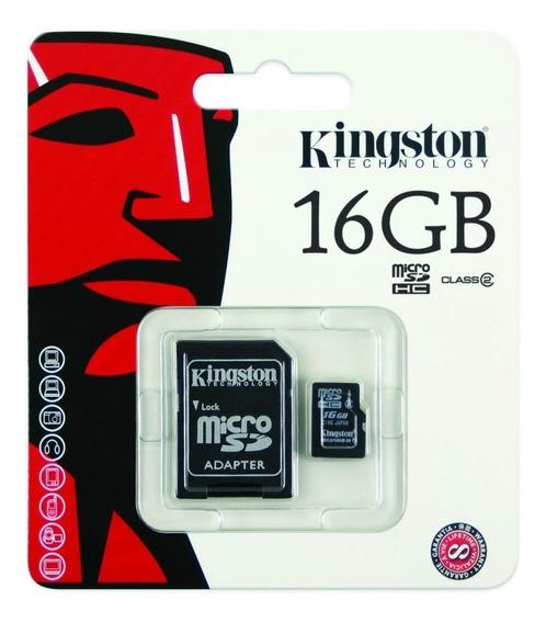 Cartão Memória Micro Sd Kingston 16gb 100% Original Lacrado