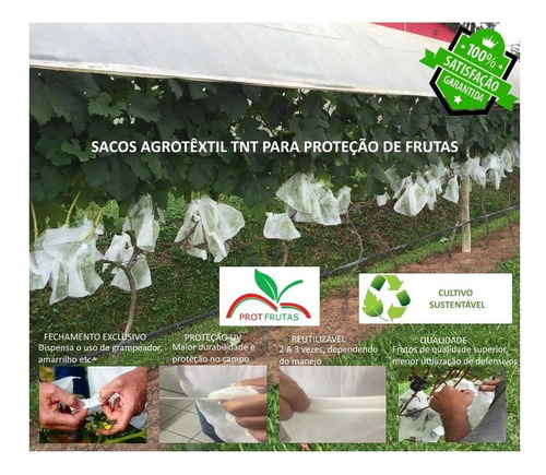 Kit Sacos Agro Tnt Proteção 50un 18x22/50un 18x26/50un 25x40