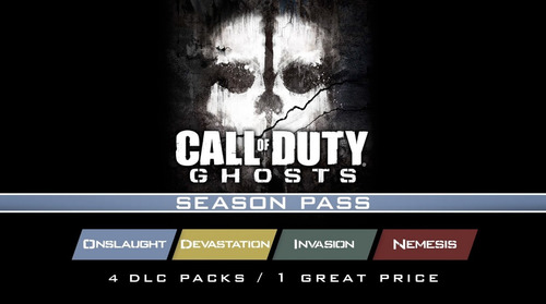 Season Pass Call Of Duty Ghosts Cod Ps3 Dlc Invasion Nemesis | Mercado Livre