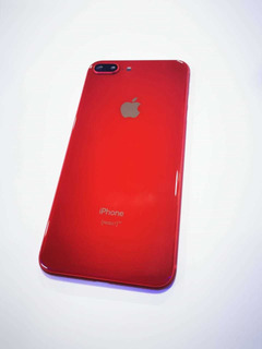 Tapa De Cristal Para iPhone 8 Plus Color Rojo