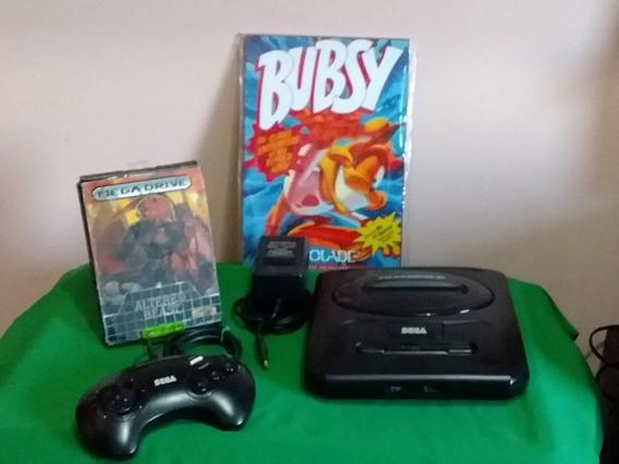 Mega Drive 3 C/ Entrada Para Sega Cd E Altered Beast N Caixa