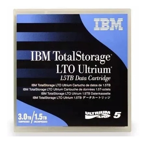 Fita Lto-5 Ultrium Ibm 1.5tb Nativo/3.0tb Comp.