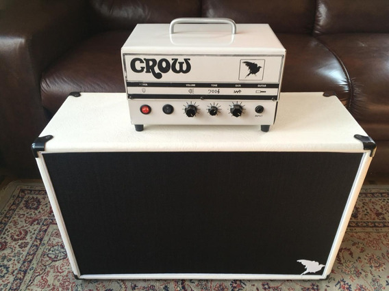 Amplificador Valvulado 5 Watts 12ax7 C/caix 2x12 Branco Crow