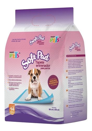 Tapete Entrenador 14pzs Para Baño Softpad Cachorro Fancypets