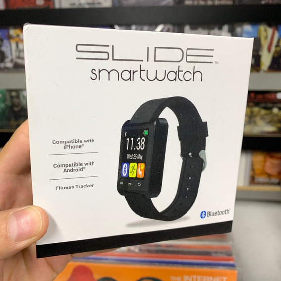 Relogio Slide Smart Watch Compativel C Android iPhone Preto