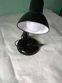 Lampada De Mesa Preta