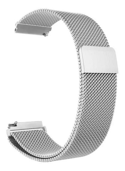 Kit 4 Pulseiras Milanese P68/ P67/ P70/ Amazfit Bip/ Gear 20mm/ Smartwatch