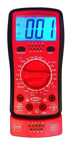 Multimetro Tester Digital Zurich Cables Red Usb Telefonía