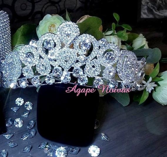 Coroa De Strass Para Noiva E Festa Cr24ra-a