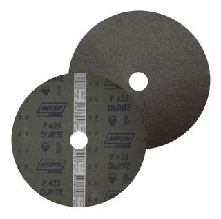 Kit Discos De Lixa F425 C/ 10 Peças Grão 60 Norton