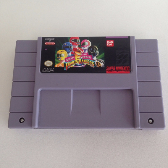 Mighty Morphin Power Rangers - Super Nintendo - Snes