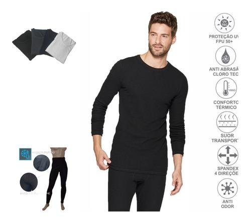 Equipo Termico Hombre Calza+camiseta Frio Extremo Sky-moto