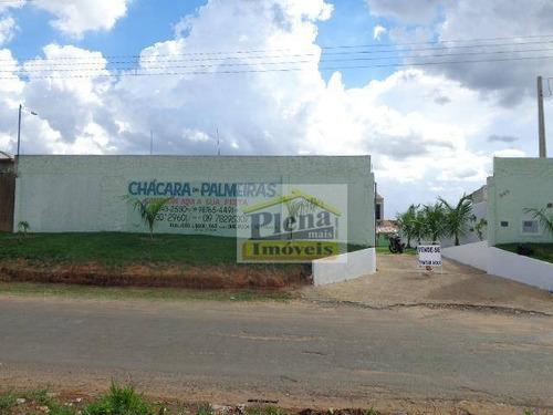 Imagem 1 de 10 de Chácara  Residencial À Venda, Chácara Meu Cantinho, Monte Mor. - Ch0034