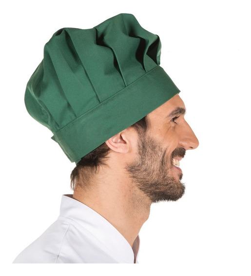 Gorro Chef O Panadero Verde Botella Ajustable Unisex