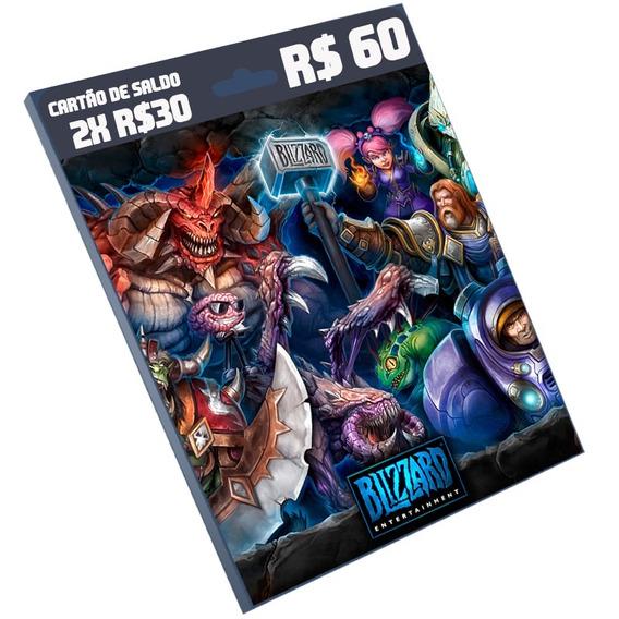 Cartão Blizzard R$ 60 Reais (2x R$30) Brasil Br Battle.net