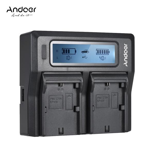 Bateria Da Câmera Digital De Canal Duplo Andoer Lp-e6 Lp-e6n
