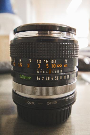 Canon 50mm F1.4 + Adaptador Fd - Eos (canon Fd 50mm F1.4)