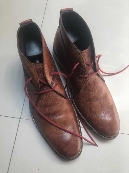 Botas Zapatos De Piel Cole Haan 8 Mex 3 Puestas Bien Cuidada