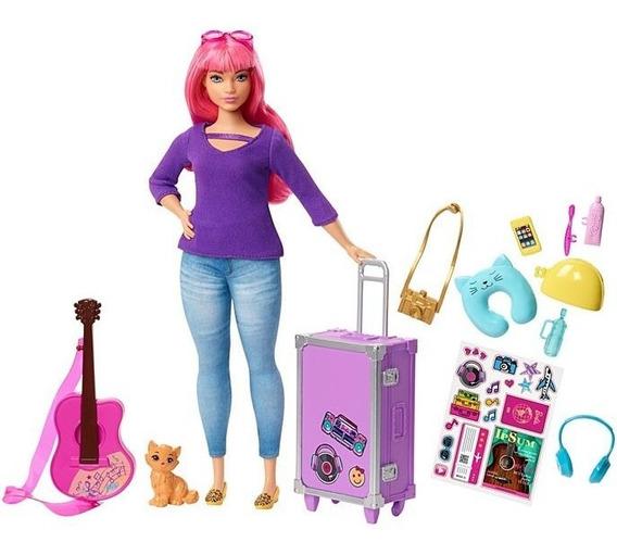 Barbie Dreamhouse Adventures Daisy Com Acessórios De Viagem