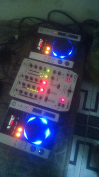 Cdjs Pioneer 200 + Mixer Behringer Vmx 300 Pode Vim Testar