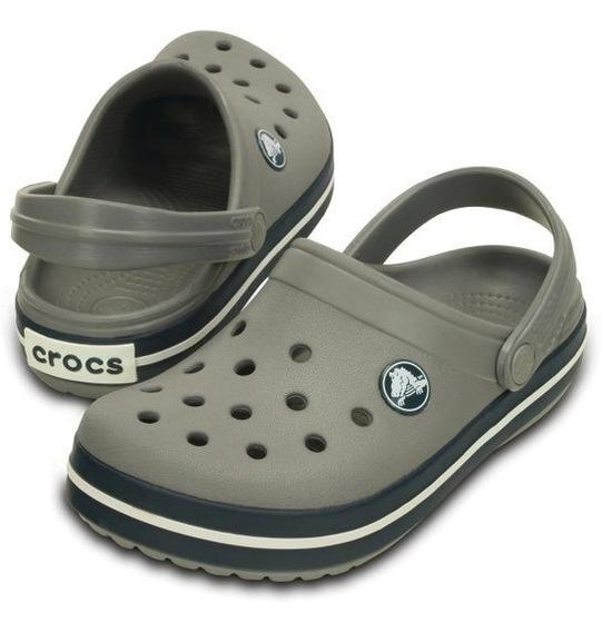 Crocs Crocband Cinza Kids - Original Revenda Autorizada