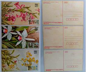 Lote 3 Cartões Postais E 1 Folha Comemorativo Ect