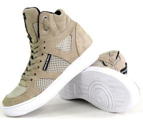 Bota Treino Tenis Sneakers Fitness Masculino Feminino Couro