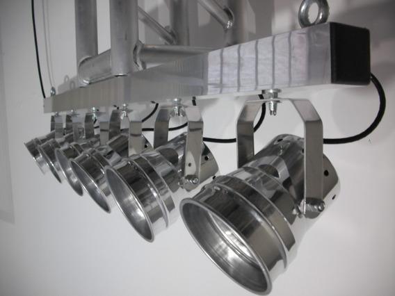 Vara Eletrica 6 Refletores Pimbim Tx Par 36 Lâmpada Focada