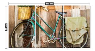Kit Quadro Decorativo Bicicleta Encostada Na Parede Bike