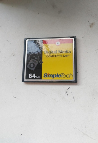 Imagem 1 de 4 de Digital Media Compactflash - Simpletech 64mb