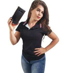 Kit 4 Camisetas Femininas Promoção Moda Evangélica Gola Polo