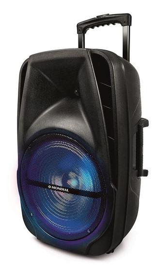 Caixa De Som Amplificada Mondial 400w Cm-14b Preta - Bivolt