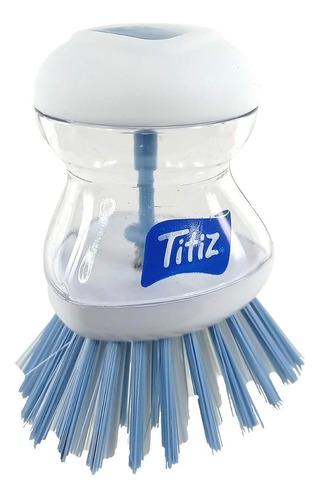 Imagen 1 de 3 de Cepillo Lavaplatos Antibacterial Con Dosificador