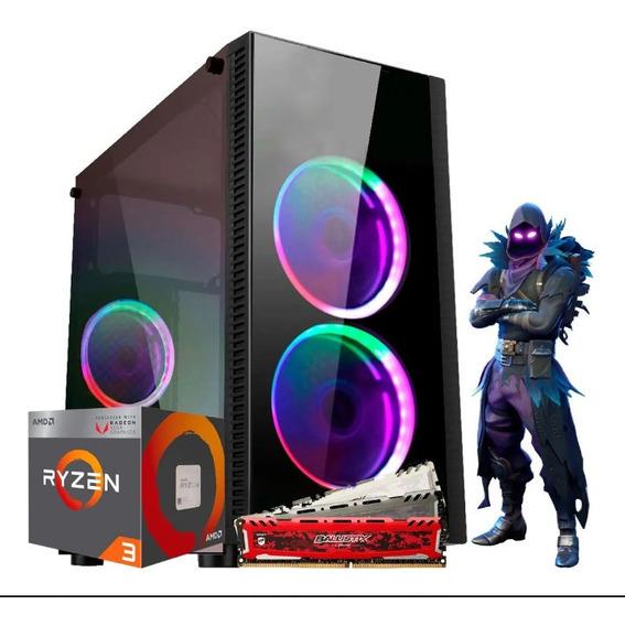 Pc Gamer Moba Box Amd Ryzen 3 3200g, 16gb Ddr4, Ssd 240gb,ap