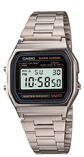 Casio A158wa-1cr Reloj Digital, Cuadrado