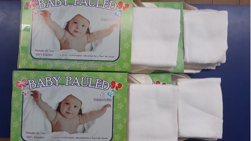 Baby Pauled Pañales De Tela Blancos