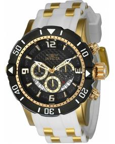 Invicta 23701 Pro Diver Dourado Ouro 18k Original Caixa Nf