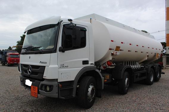 Mb Atego 2430 4° 15/16 Tanque Aço Carbono Bitruck 25 Mil Lt