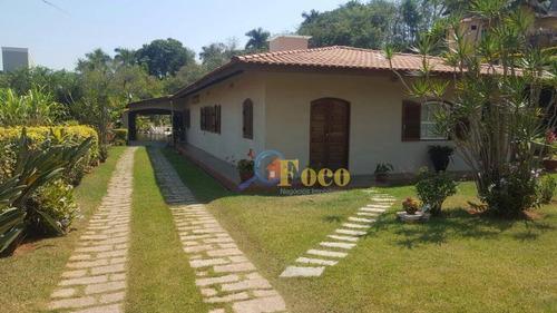 Imagem 1 de 7 de Chácara Com 4 Dormitórios À Venda, 1800 M² Por R$ 1.200.000,00 - Condomínio Ville De Chamonix - Itatiba/sp - Ch0158