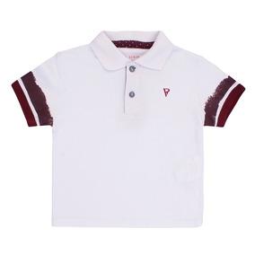 d5fff79d692 Camiseta Polo Vr Kids Manga Curta Branco